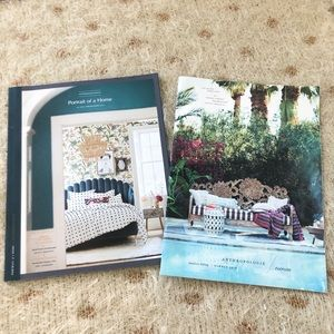 Anthropologie X 2 Home Catalogs from 2018